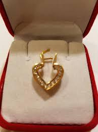 heart pendant 14 k yellow gold 3 00 grs