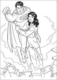 Superman Redt Lois Lane Kleurplaat Gratis Kleurplaten Printen