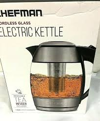 chefman electric cordless glass tea