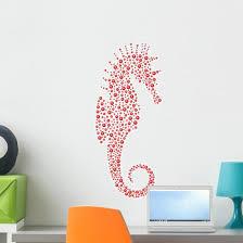 Abstract Seahorse Wall Decal Wallmonkeys Com