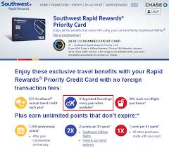 southwest airlines priority credit card
