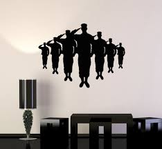 Vinyl Wall Decal Silhouette American Soldiers Military Patriotic Art Stickers Mural Unique Gift Ig5105 Vinyl Wall Decals Sticker Art Wall Decals