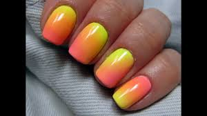 Easy Ombre Gradient Using Acrylic Powder Cieniowane Ombre Na