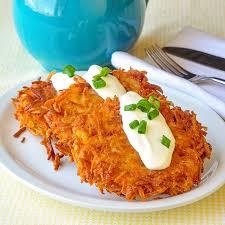 garlic parmesan potato latkes as a