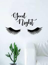 Good Night Eyelashes Beautiful Design Decal Sticker Wall Vinyl Decor A Boop Decals