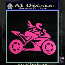Girl Motorcycle Racing Vinyl Decal Sticker A1 Decals