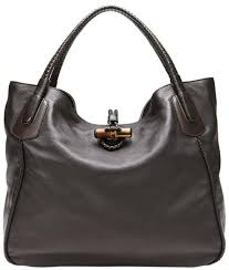 leather large hip bamboo tote bag