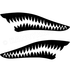 Sharks Teeth Decal Sticker Set For Your Kayak