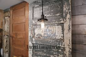 lights mercury glass pendant light