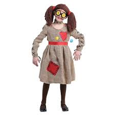 burlap voodoo doll girls costume kids