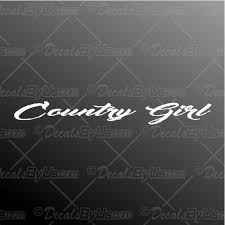 Lowest Prices On Country Girl Windshield Car Decals