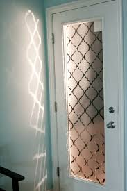 faux frosted glass back door makeover