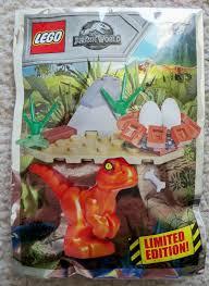 LEGO Jurassic Park World - Magazine W/ Baby Raptor and Nest Foil Pack  121801 for sale online