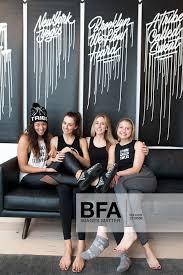 Sarah Larson Levey, Hillary Wright, Melanie Miracolo, Natalie Rast at Cole  Haan STUDIØGRAND + Y7 Yoga /