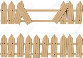Two Drawn Wooden Fence One Whole And One With Broken Boards Royalty Free Cliparts Vectors And Stock Illustration Image 64592136