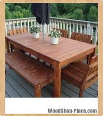 outdoor dining table plans free easy