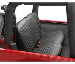 bestop black denim rear bench seat