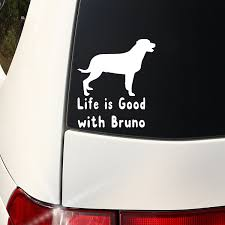 Personalized Window Decal I Love My Pet