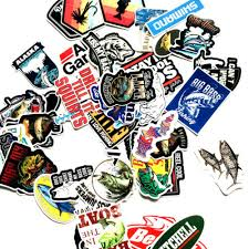 Skateboarding Longboarding Stickers Decals Sporting Goods Fishing Sticker Pack Bomb Fish Hunt Boat Laptop Mac Car Vinyl Decals Bass Pro