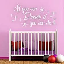 Buy Baby Decor Lovely Star Decal If You Can Dream It You Can Do It Dream Quote Teen Room Decal Baby Nursery Stars Art Sticker Girl Boy Bedroom Wall Grapic Small White In Cheap Price