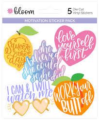Vinyl Sticker Set Motivation Pack Bloom Daily Planners