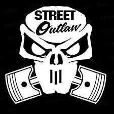 Amazon Com Decaldestination Street Outlaw Truck Window Vinyl Car Decal White 10 Automotive