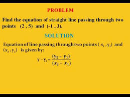 equation of straight line passing