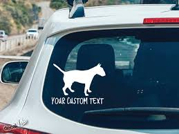 Bull Terrier Custom Text Car Decal Sticker Choose Size And Etsy