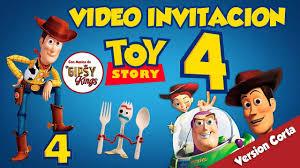 Toy Story 4 Invitacion De Cumpleanos Disney Pixar Youtube