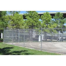 2 3 8 In X 2 3 8 In W X 12 Ft H 13 Gauge Silver Galvanized Steel Chain Link Fence Terminal Post In The Chain Link Fence Posts Department At Lowes Com