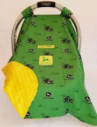 car seat canopy cover john deere green