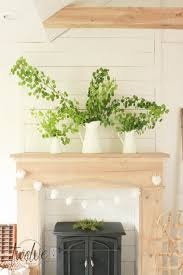 diy faux farmhouse style fireplace and