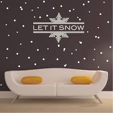 Snowfall Decal Murals Christmas Decals Self Adhesive Snowflake Wall And Window Mural Holiday Murals Trendy Wall Designs