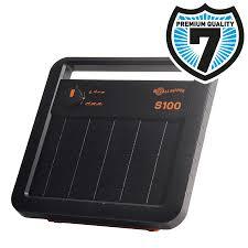 Gallagher S100 Solar Power Fence Energiser Including Battery 12v 7 2ah Gallagher