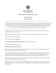 Diversity Committee Meeting Minutes FINAL September 21, 2019 10 AM – 3 PM  In-Person: WSBA Office