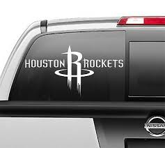 Houston Rockets Window Sticker Vinyl Decal Any Size Any Color Ebay