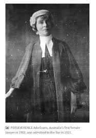 """Jen Robinson on Twitter: """"""""You don't look like a lawyer"""". I still get this  comment. How should a lawyer look?! Celebrating Ada Evans on #IWD2018,  Australia's first woman law graduate - told"""