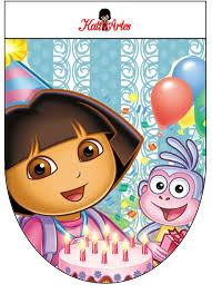 Banderines Gratis Del Cumpleanos De Dora La Exploradora Dora La