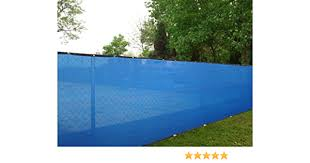 Amazon Com 6ft X 50ft Royal Blue Privacy Fence Screen Shade Cloth 85 Blockage Garden Outdoor