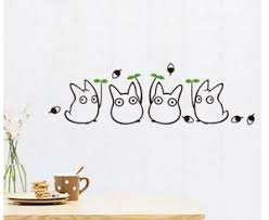 Cartoon Animation Vinyl Totoro Wall Decals For Children S Room Decoration Cute Ebay