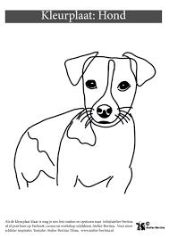Hond Kleurplaat Kleurplaten Voor Jong En Oud Atelier Bertina