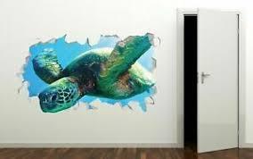 Sea Turtle Wild Animal Custom Wall Decals 3d Wall Stickers Art Ls86 Ebay