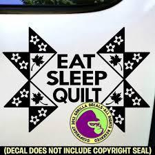 Eat Sleep Quilt Vinyl Decal Sticker Gorilla Decals