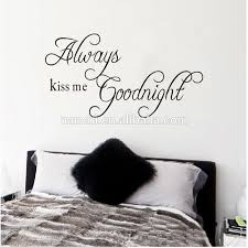 Always Kiss Me Goodnight Proverbs Stickers Diy Bedroom Wall Sticker Removable Vinyl Wall Decal Buy Diy Bedroom Wall Sticker Vinyl Wall Decal Removable Decals Product On Alibaba Com
