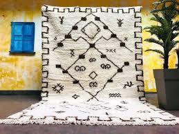 moroccan rug 6x9 handmade beni ourain
