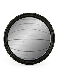 thin framed large convex mirror 21cm
