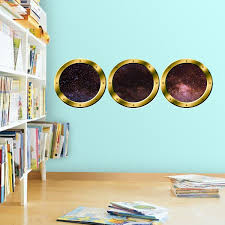 3d Space Window Stickers Spaceship Wall Decals For Kids Rooms Galaxy