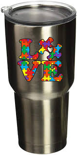 Amazon Com Boldergraphx 5077 Autism Awareness Puzzle Piece With Love 2 6 X2 5 2 Pack Vinyl Sticker Decal For Yeti Mug Cup Rtic Sic Cup Thermos Cup Or Laptop Cell Phone Wrap Or Hardhat Automotive