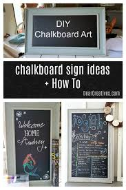 do you want to make chalkboard art