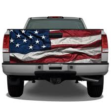 Waving American Flag 2 Truck Tailgate Wrap Vinyl Graphic Etsy